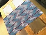 Double-set zébré bleu-gris blanc bordeaux