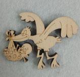 miniature cicogna-miniatura cavallo a dondolo in legno