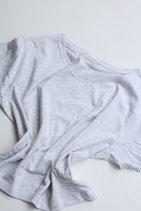 Fairwear Cropped  Frauen Shirt grau meliert