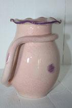 Pichet design rose points et liseré violet