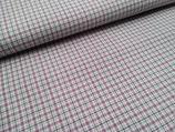 Westfalenstoffe Webstoff Torino Baumwolle kariert weiß - mauve