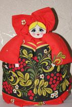 """Кукла на чайник """"Агриппина"""" хохлома"""