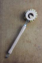 Spülbürste, Holz, echt Fibre, 4 cm + Logo plastikfrei-angel