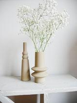 Vase creme/beige matt