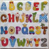 Colorful  Alphabet ペーパーナプキン