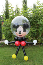 Micky Maus aus Luftballons