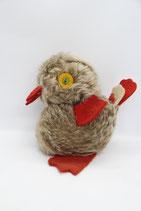 DDR Kuscheltier Ente Vogel braun Stofftier roter Schnabel Füße