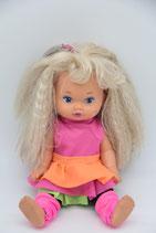 Mattel 1988 Lil Miss Puppe geschminkt Arobic Sport Outfit
