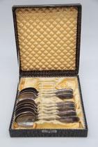 9er Set Teelöffel Kaffeelöffel MKM Silberauflage 40 bzw. 90 versilbert in Box