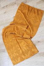 oranger Vorhang Schal DDR Blumenmuster