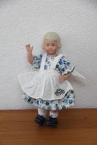 Schildkröt Künstlerpuppe 13 klein blaues Kleid