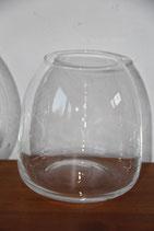 schlichtes Glasgefäß Vase bauchig rund