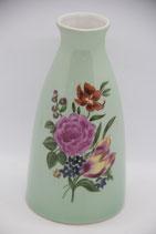 Porzellanvase mintgrün mit Blumen GDR Wagner & Apel 1877 Krone