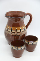 bulgarische Keramik Krug braun Saftkrug