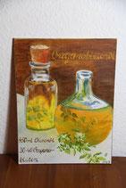 original Ölbild auf Hartfaserplatte - Rezept Oreganoöl