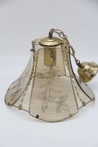 Messing Deckenlampe Hängelampe retro Blumen Küchenlampe vintage