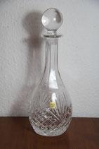 Glas-Karaffe Kristallglas mit Stöpsel Likörkaraffe Bleikristall