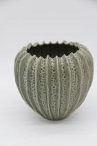 Keramikübertopf Damia dunkelgrün