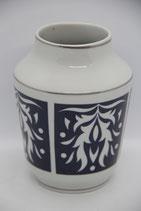 Spechtsbrunn Vase Silberdistel Motiv blau weiß Silberrand