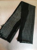 Echarpe laine noire et grise