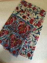 Echarpe laine motif oiseaux de paradis