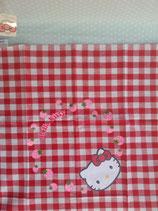 Tischdecke, Tischtuch, Baumwolltischdecke, Tischdecken, Hello Kitty, rot