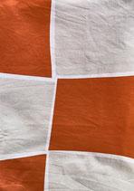 Mund-Nasenbedeckung orange-grau