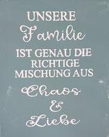 """Schablonenbild """"Unsere Familie...."""""""