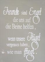 """Schablonenbild - """" Freunde sind Engel...."""""""