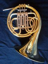 """Waldhorn - """"Roland Meinl """" -  mit F & Es Stimmzug - 3-ventilig - Ausstellungsstück mit leichten Gebrauchsspuren- vibrationsentdämpft"""