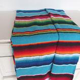 Mexikanische sarape, Tischdecke, Bettüberwurf, Yogadecke, handgewebte Decke (türkis)