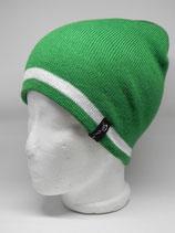 Retro Skilehrer Mütze grün/weiß