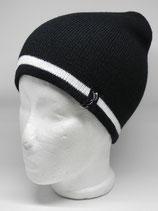 Retro Skilehrer Mütze schwarz/weiß