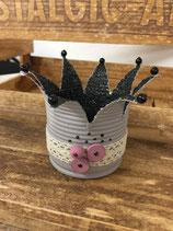 Krone mit elektrischen Teelicht     Durchmesser 13 / Höhe 9cm
