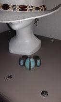 Bracelet 3 pierres turquoises
