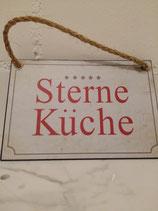 """Metallschild """"5 Sterne Küche"""", 22x15"""