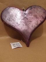 Herz aus Holz, rosa