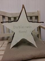 """Stern aus Metall """"Du bist mein Stern"""", Handarbeit aus der Schweiz"""