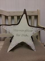 """Stern aus Metall """"Sternenglitzer für dich"""", Handarbeit aus der Schweiz"""