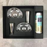 Coffret cadeau Koimari Snow de 2 tasses + 2 assiettes à gateau + 1 boite à thé vert Sencha de Jugetsudo