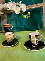 Espresso Tasse mit Teller