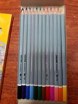 Caja 12 lápices de colores acuarelables