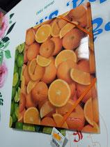 Carpeta de gomas plástico frutas