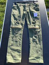 olivgrüne Jeans Gr. 146 Destroyed (47)