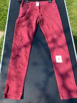 bordeauxfarbene Jeans Gr. 152/158 (9)
