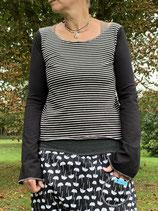 Froeken Frida Jersey Shirt Paula, schwarz/weiß