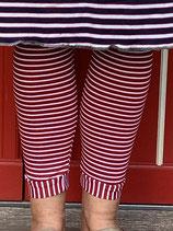 Froeken Frida Jersey Leggings rot/weiss gestreift