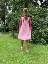 Froeken Frida Musslin Trägerkleid, BIO rosa