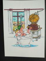 """Postkarte aus der Serie """"Die kleine Madame reist"""" Motiv 82"""