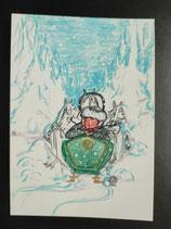 """Postkarte aus der Serie """"Die kleine Madame reist"""" Motiv 117"""